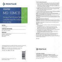 Replacement Filter Cartridge Pentek MG-10MCB